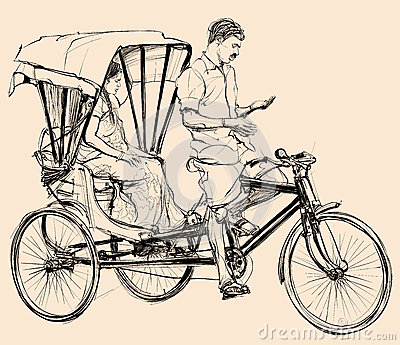 Rickshaw Stock Illustrations.