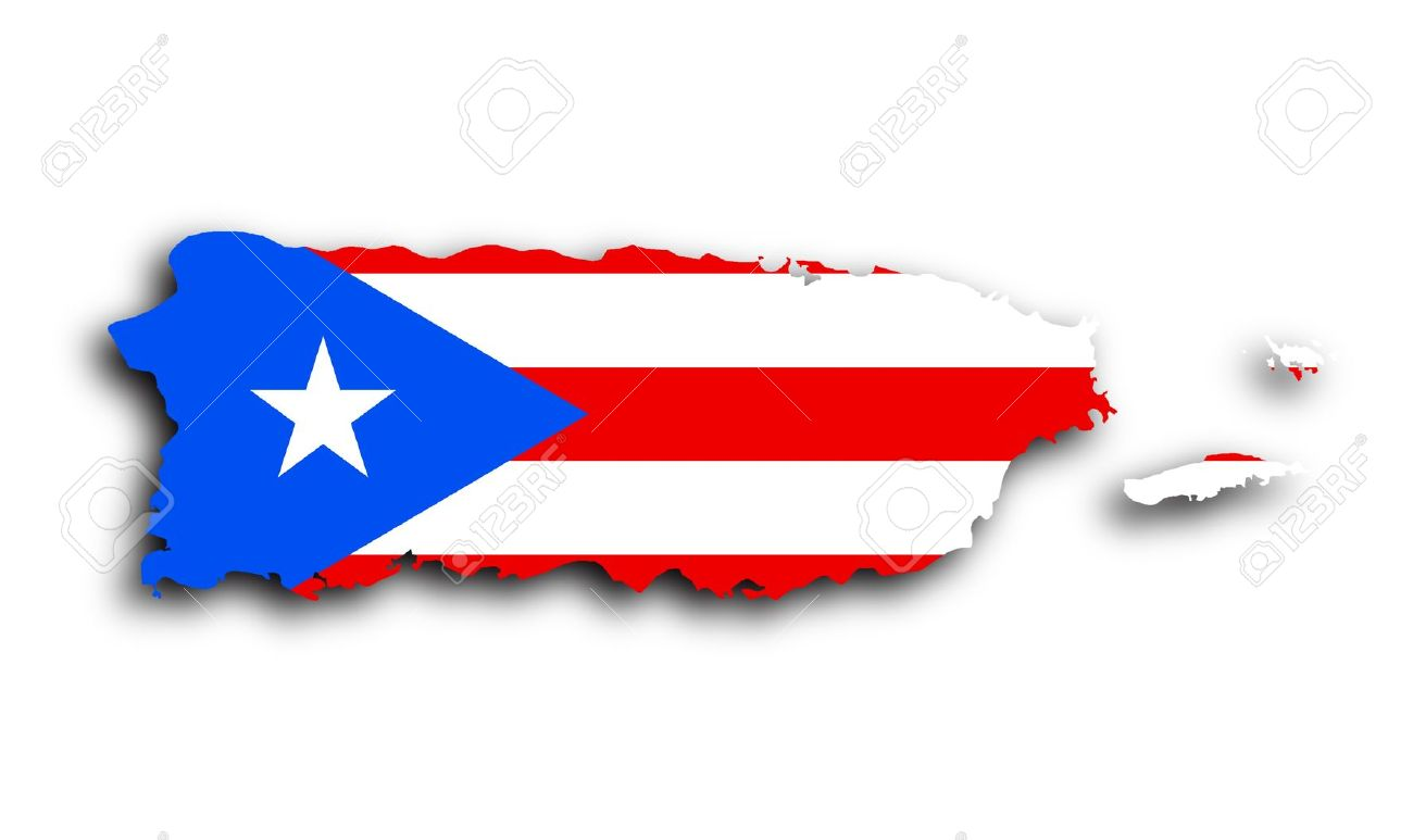 Free puerto rico map clipart.