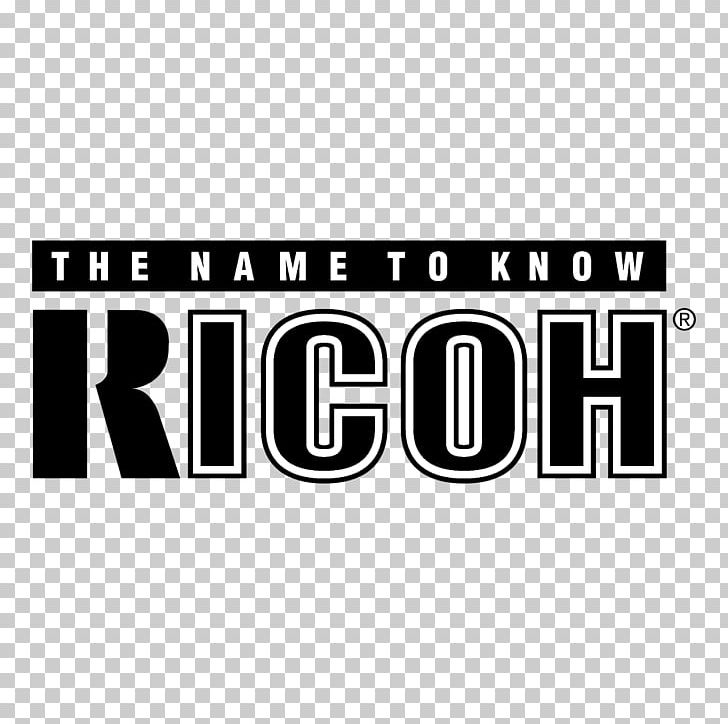 Ricoh Logo PNG, Clipart, Area, Black And White, Brand.