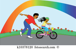 Learning ride bike Clip Art Vector Graphics. 158 learning ride.