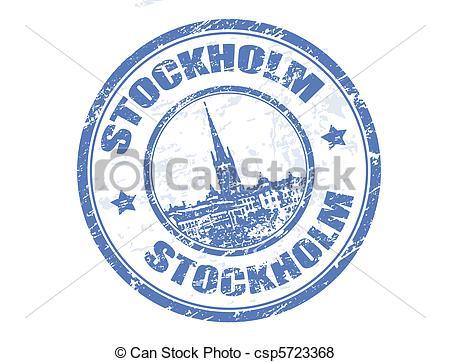 Vector of Stockholm stamp.