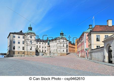 Stock Photography of Stockholm. Birger Jarl Area on the Island.