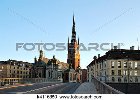 Stock Photography of Knight's Church, Stockholm, Sweden k4116850.