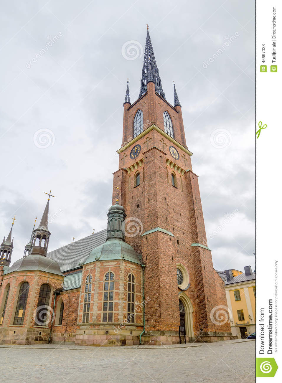 Riddarholmen Church Tower Stock Photo.