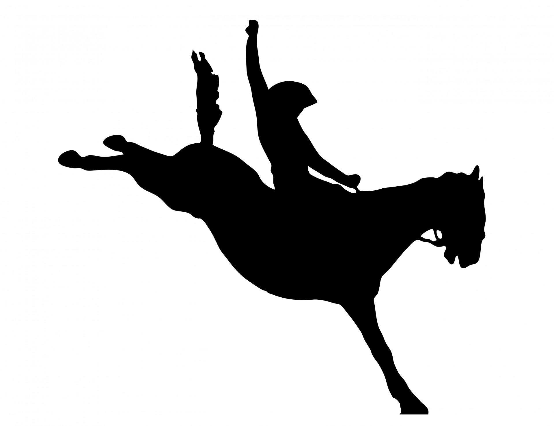 Cowboy Horse Rider Clipart Free Stock Photo.