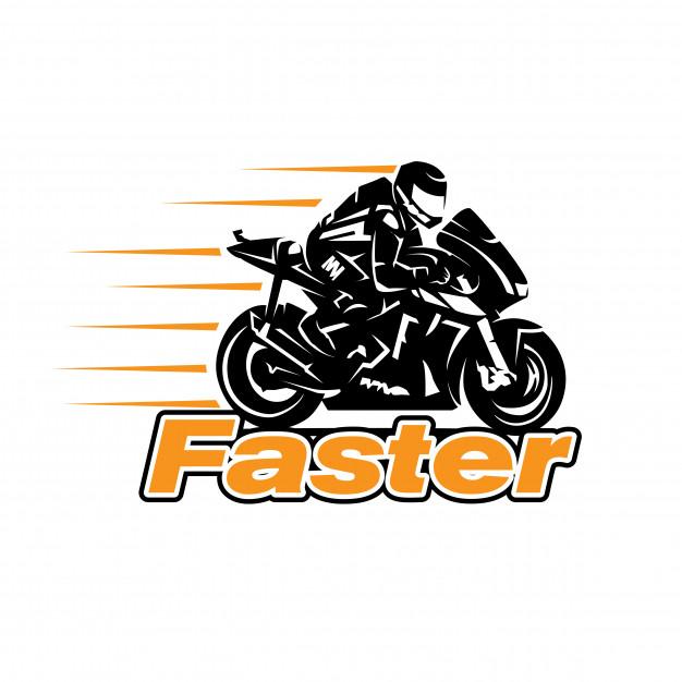 Fast rider logo designs Vector.