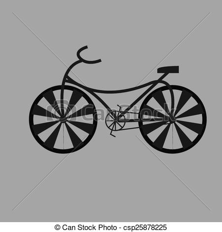 Vector Illustration of Circus riderless bicycle on the gray.