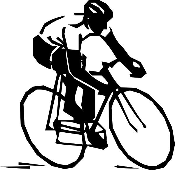 Steren Bike Rider clip art Free vector in Open office drawing svg.