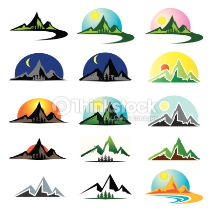 Clip Art Mountain Ridge.