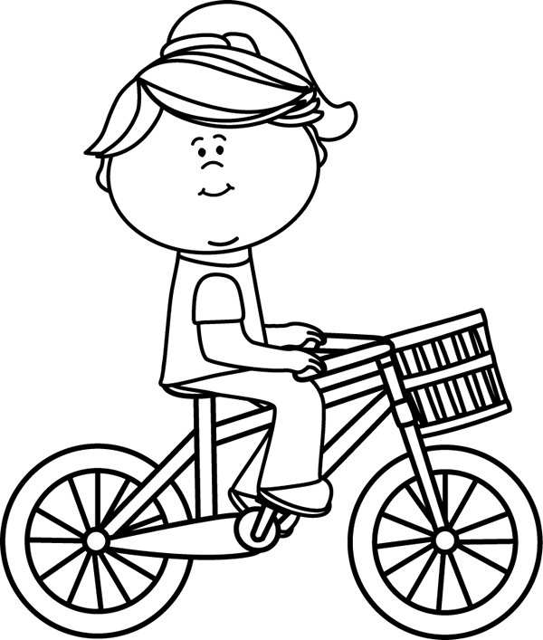 Bicycle Clipart Black And White.