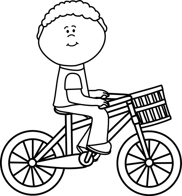 Ride a bicycle clipart black and white » Clipart Portal.