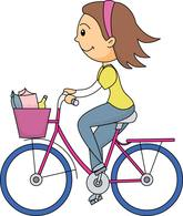 418 Cycling free clipart.