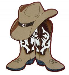 Cartoon cowboy boots clipart.