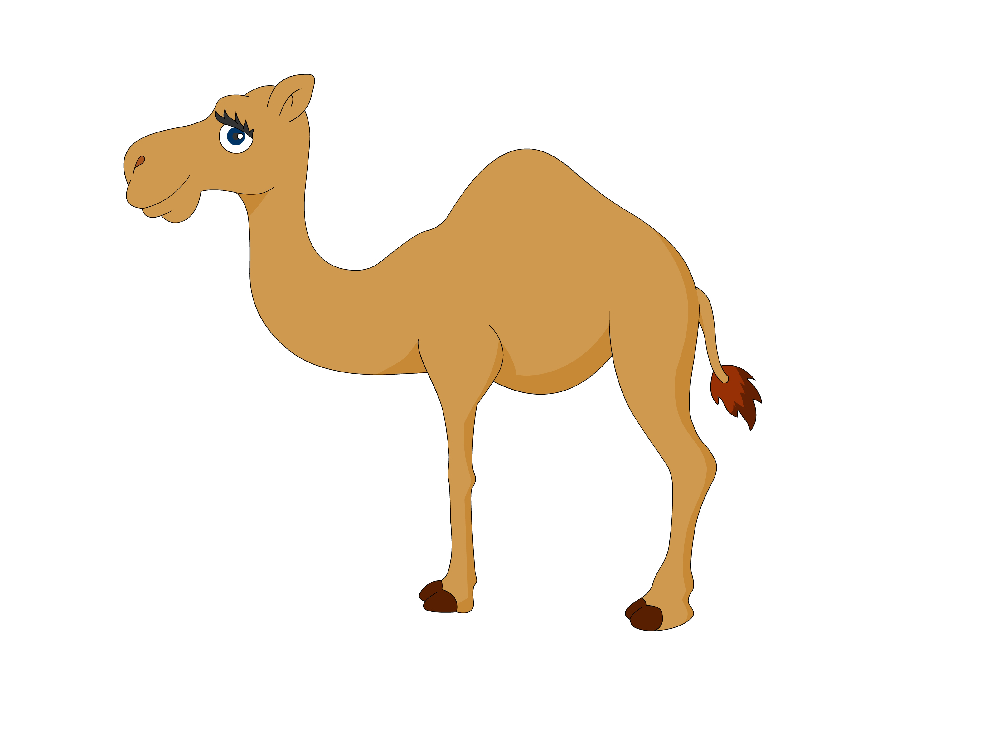 Person riding camel clipart stencil free design download.