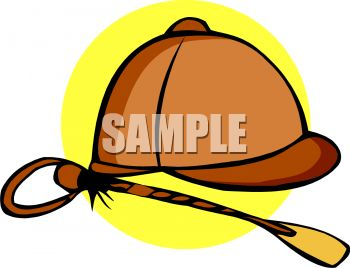 Royalty Free Clip Art Image: English Style Riding Helmet.