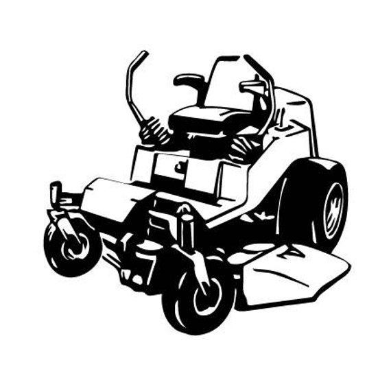 Zero Turn MOWER Lawn mower outline SVG Digital Download.