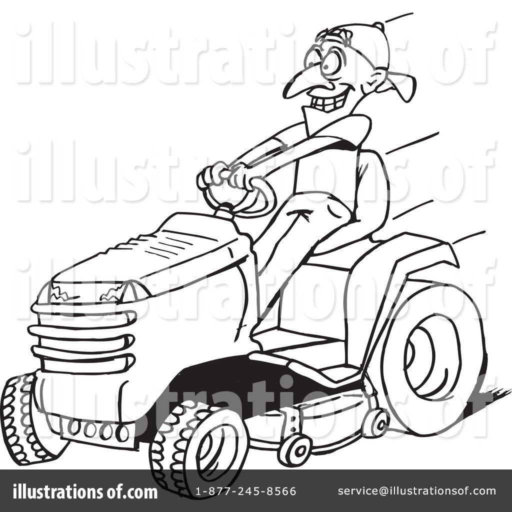 Lawnmower clipart black and white.
