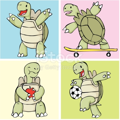 Happy Galapagosriesenschildkröte Vektor Illustration 92734937.