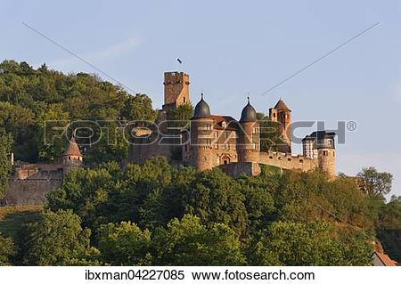 Stock Image of Burg Wertheim, Baden.