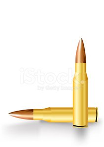 Rifle Bullet Clipart Image.