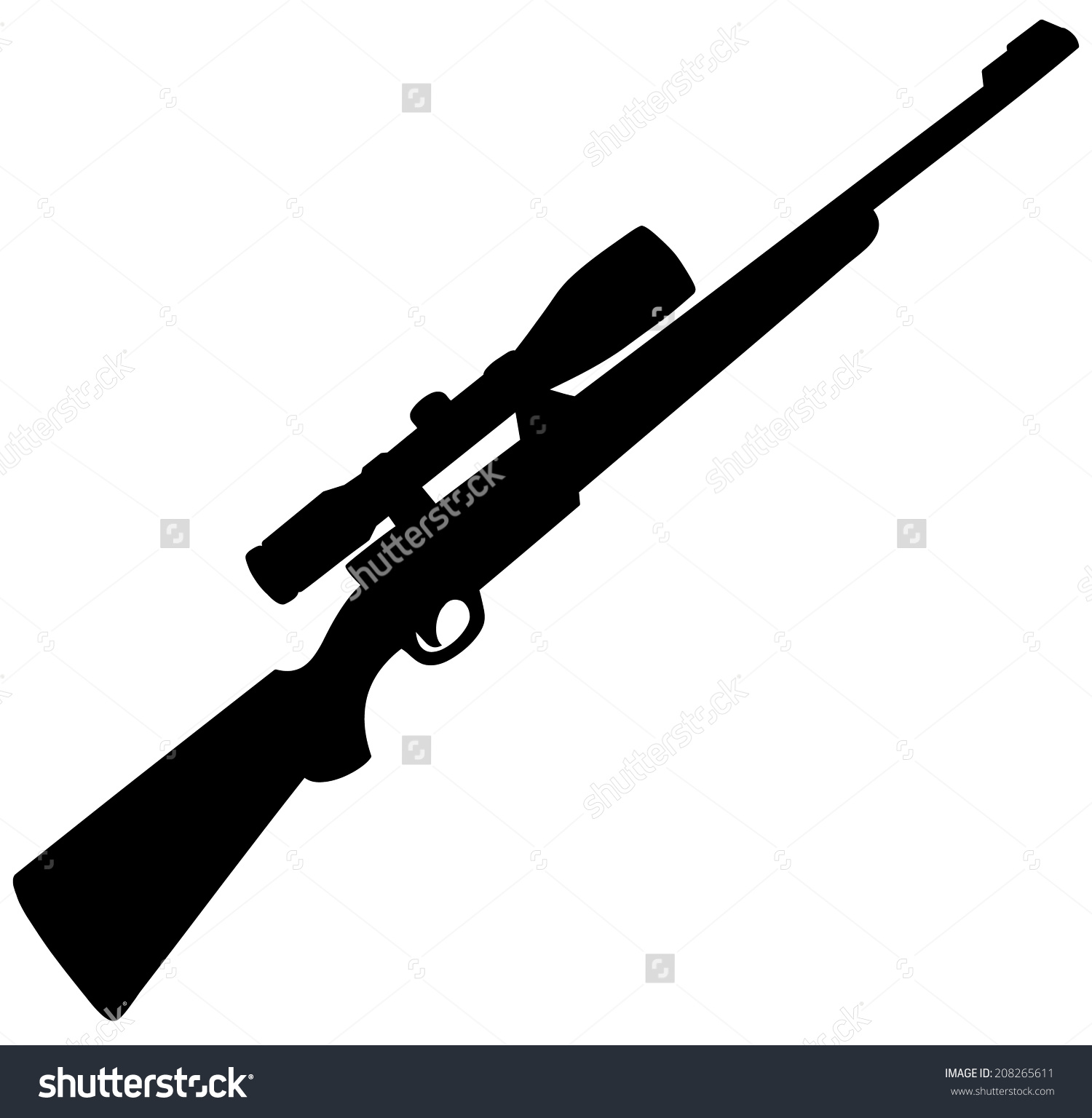 Hunting rifle clipart.