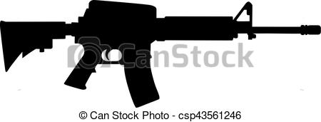 EPS Vector of Sniper rifle silhouette csp43561246.