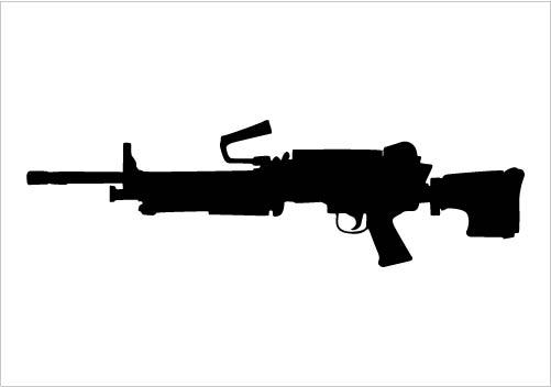 Machine Rifle Silhouette Download Machine Gun Silhouette Graphics.