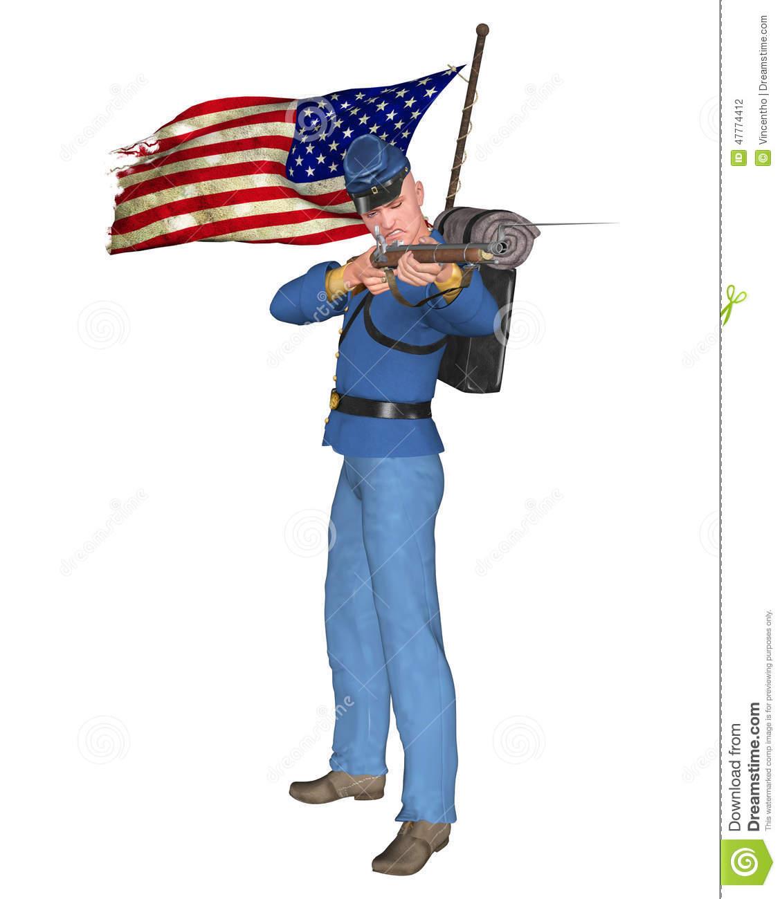 Civil war soldier clipart.