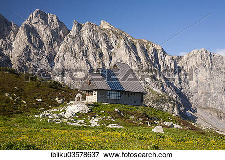 "Picture of ""Rifugio Garelli mountain hut in front of the northern."