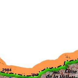 La diga del Chiotas e il Rifugio Genova.