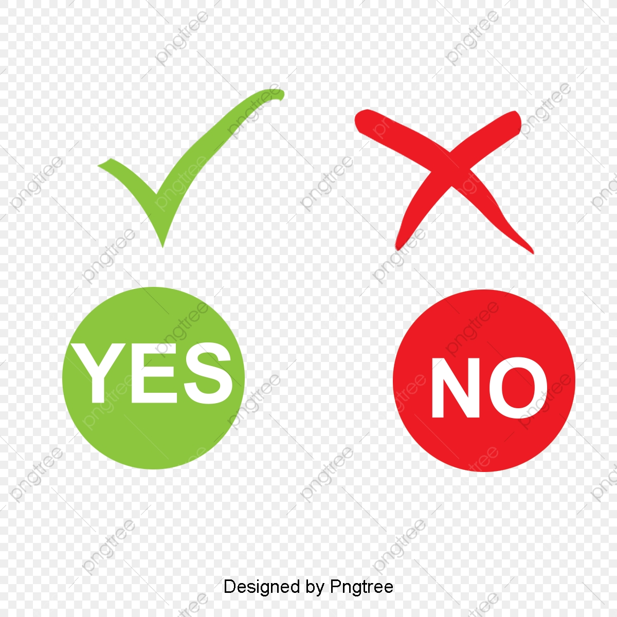 Right Or Wrong Red Cross Green Tick Vector, Right Or Wrong.