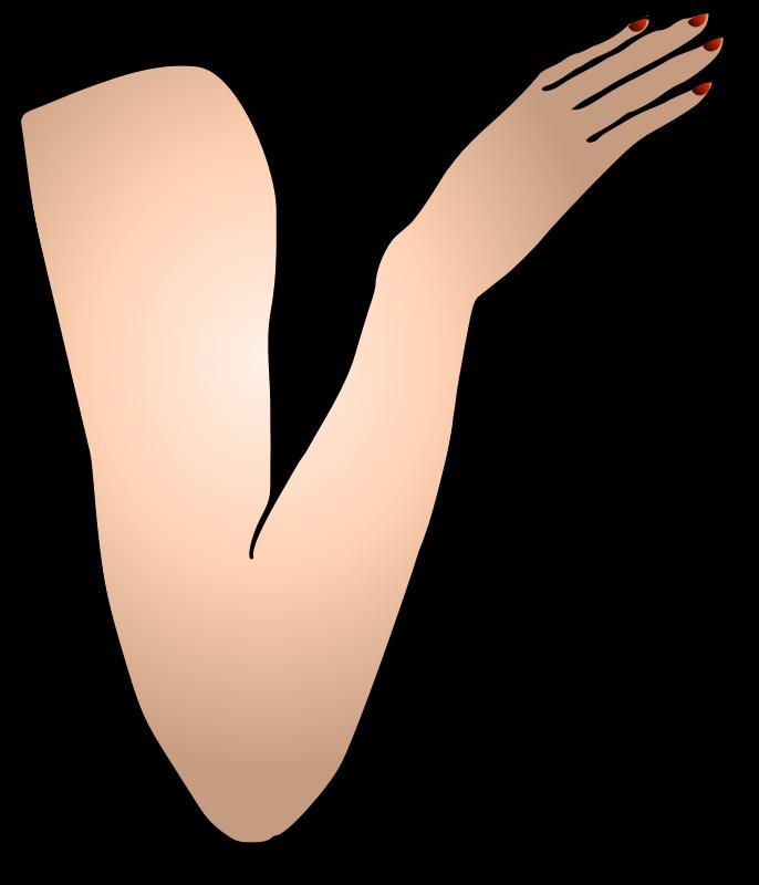 Free Clipart: St Patricks Girl Right Arm.