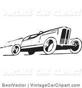 Royalty Free Sports Stock Vintage Car Designs.
