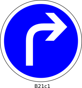 Turn Right Clipart.