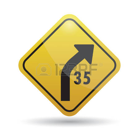 148 Right Curve Ahead Stock Illustrations, Cliparts And Royalty.