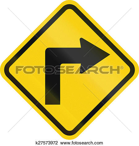 Clip Art of Right Curve Ahead In Colombia k27573972.