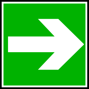 Right Direction Sign Clipart.