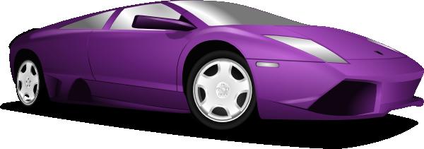 Right Facing Clipart Sports Car.