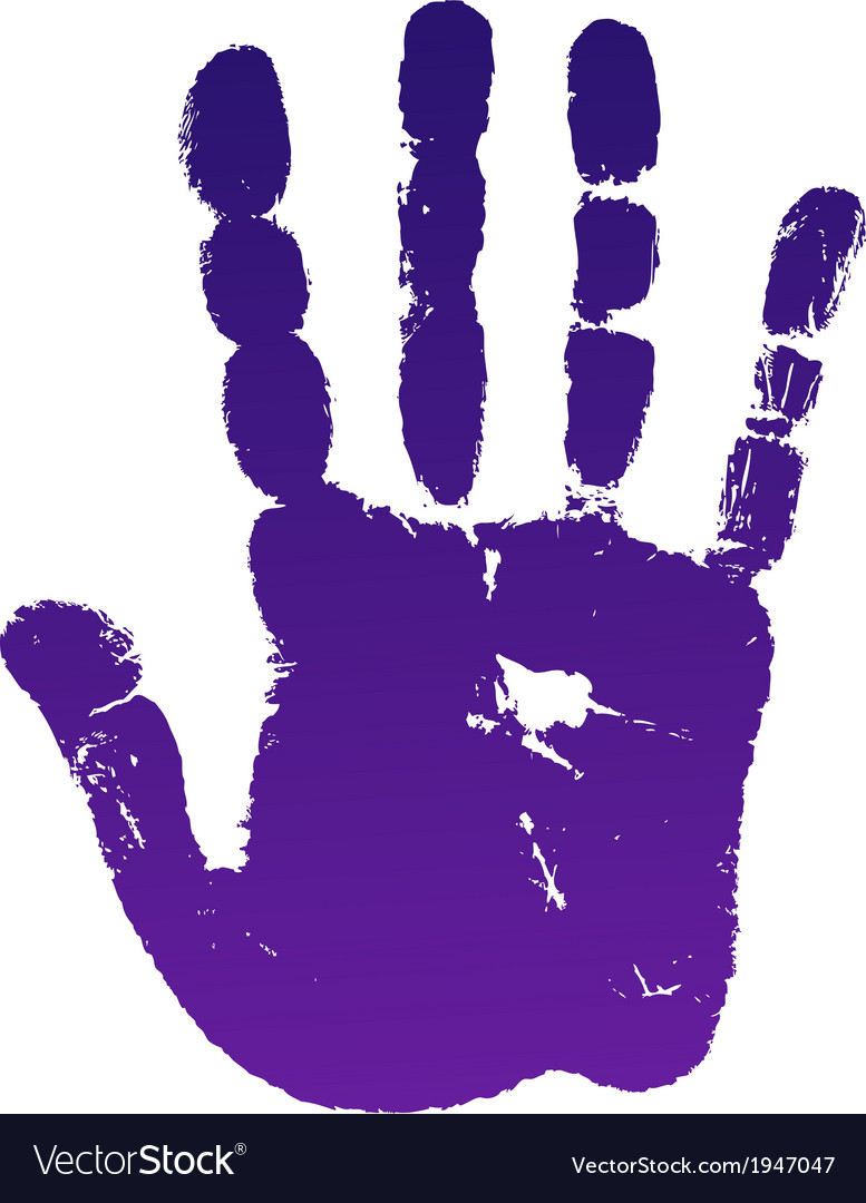 Old man right hand print.