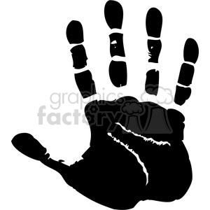 right handprint clipart. Royalty.