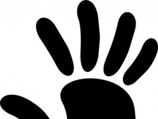 Hand Prints Free vector.