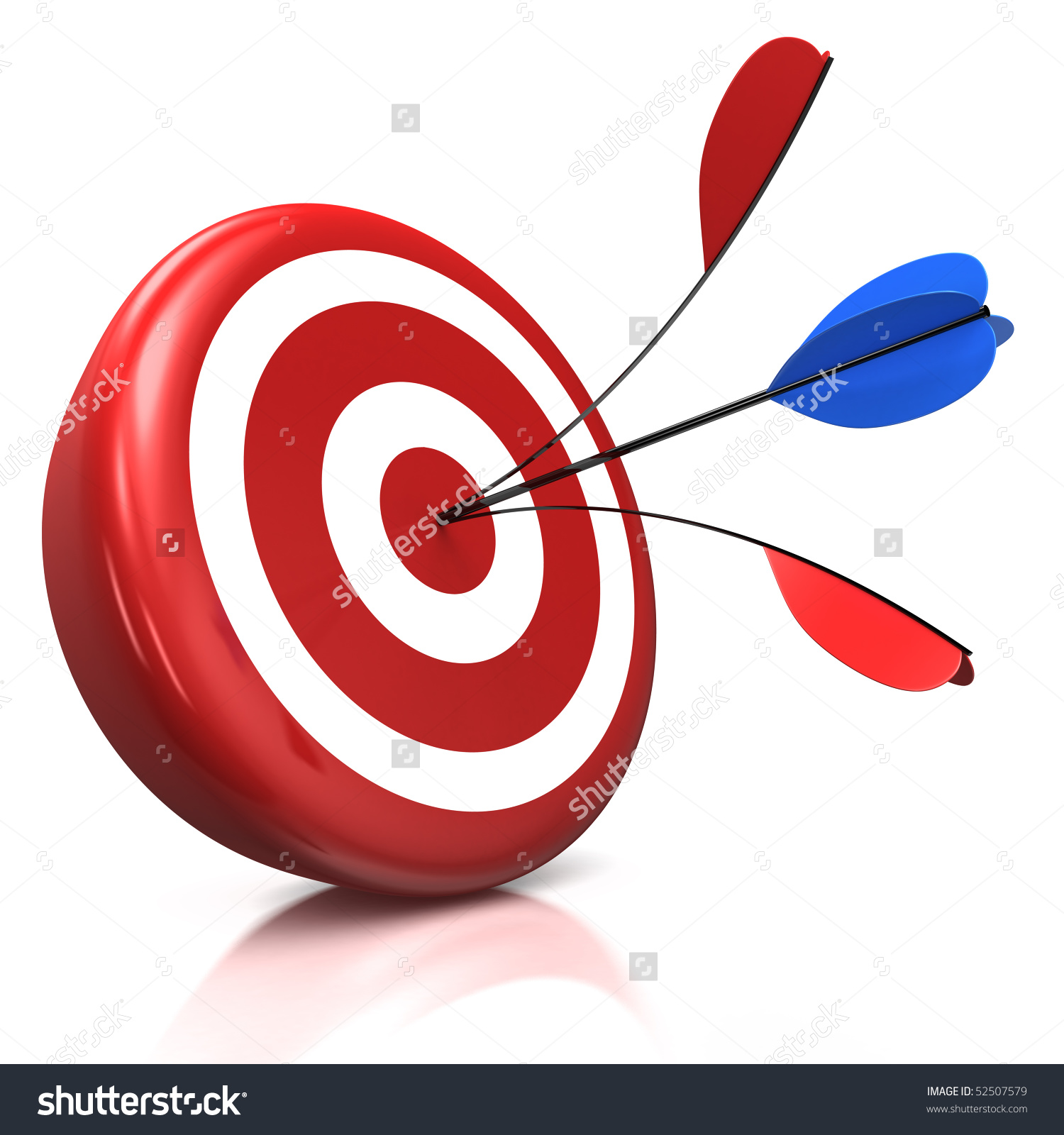 Red Target One Arrow Split By Stock Illustration 52507579.
