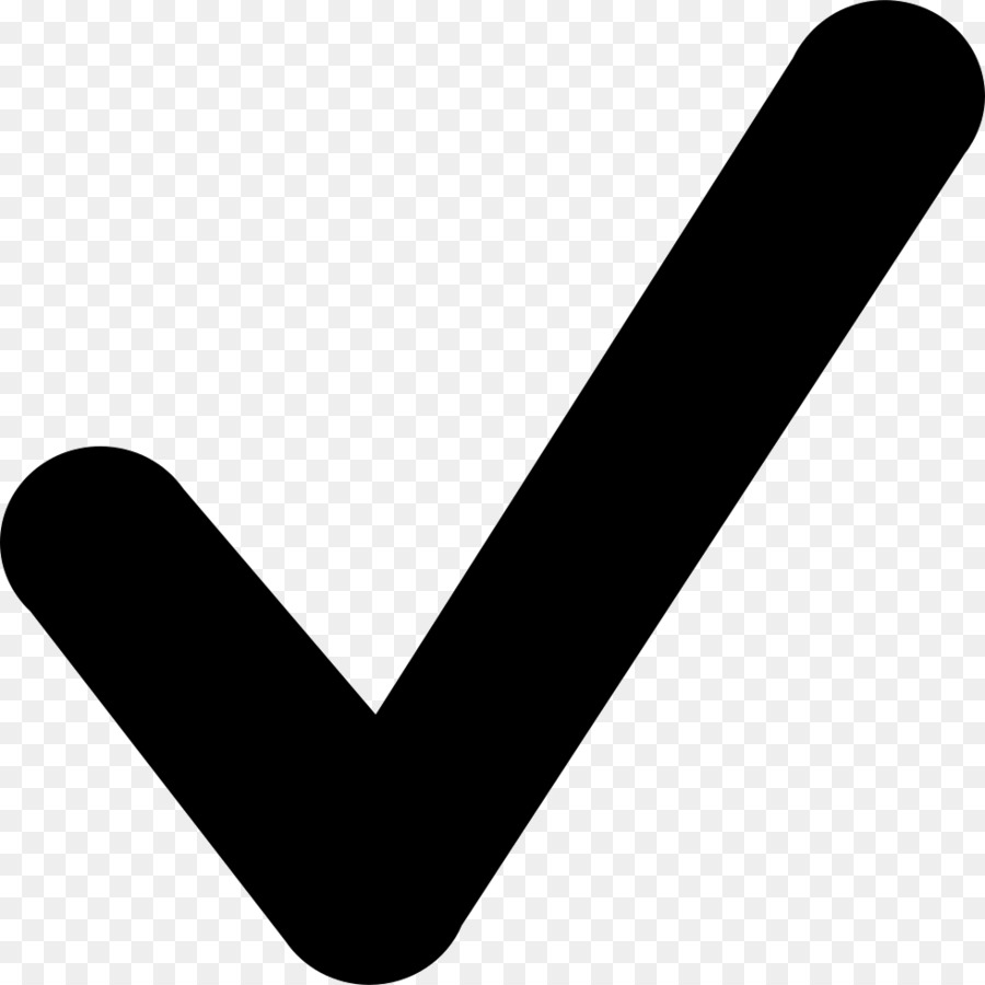 Black Check Mark png download.