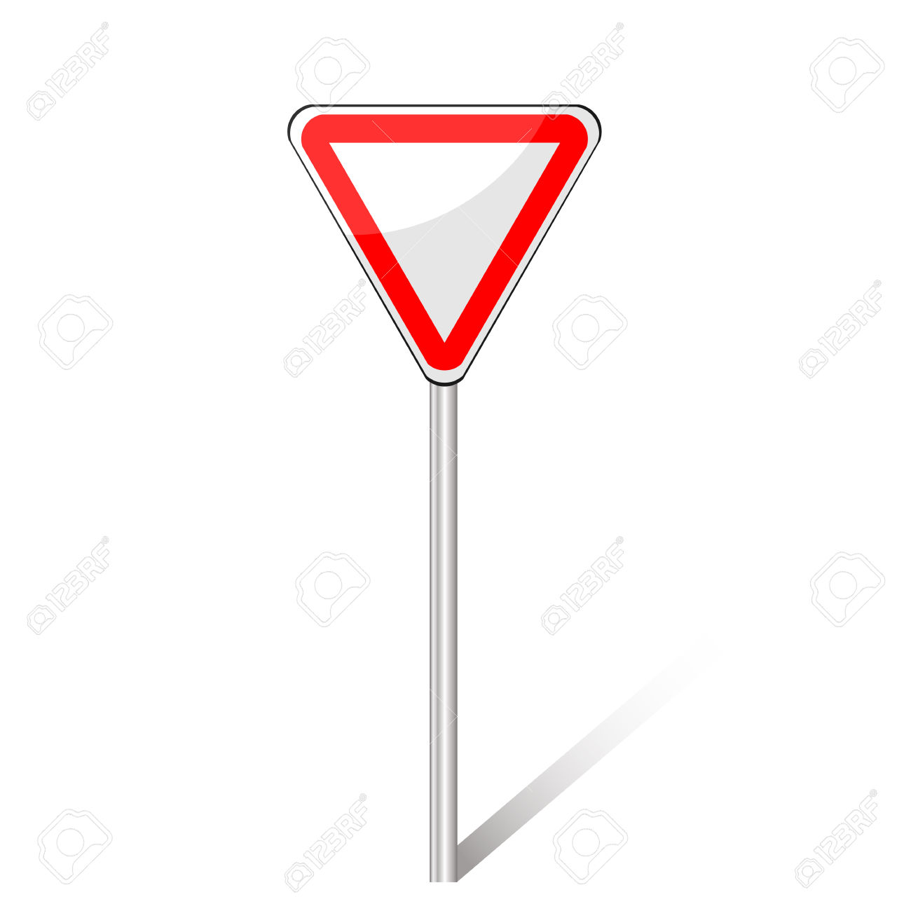 Traffic Sign Right Of Way, Vector Royalty Free Cliparts, Vectors.
