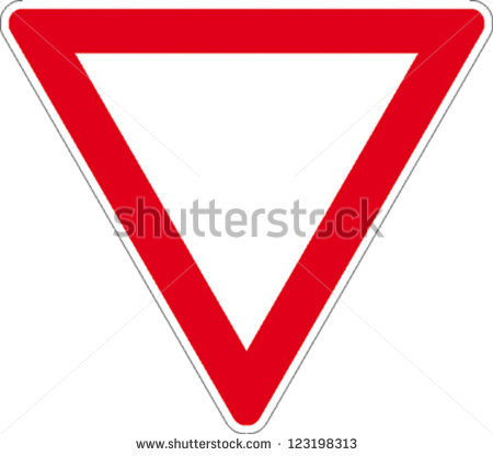 Traffic Sign Right Way Stock Vector 123198313.