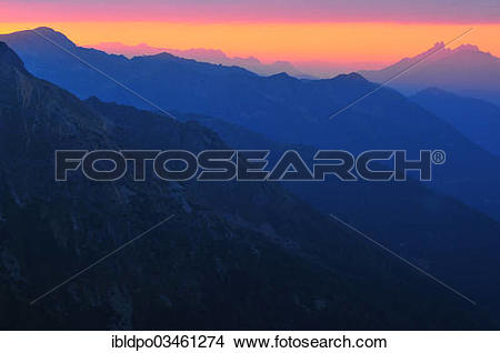 "Stock Photo of ""View of the Bischofsmuetzen peaks, far right, past."