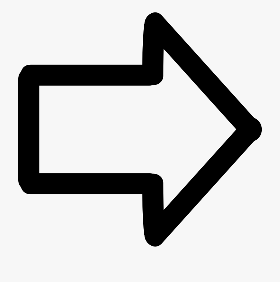 Arrow Pointing To Right Hand Drawn Symbol Comments.