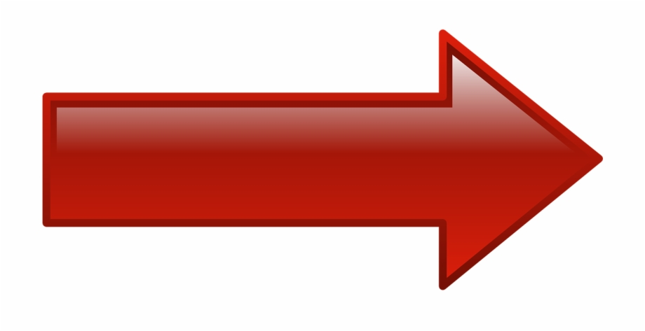 Right Arrow Red Shape Png Image.
