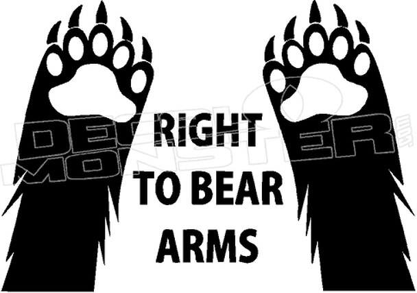 Right to Bear Arms 1 Decal Sticker.