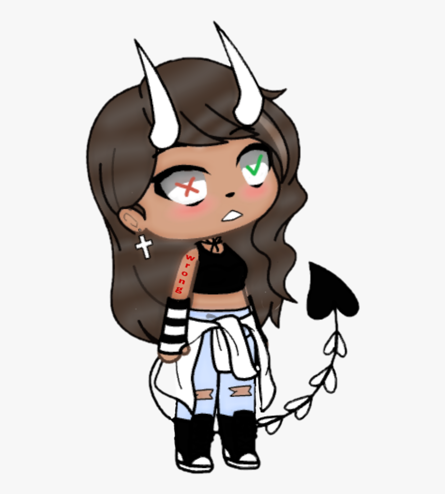 gachalife #girl #error #wrong #right #devil #shook.